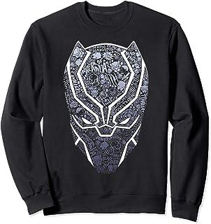 Marvel Black Panther Mask Build Up Fill Sweatshirt