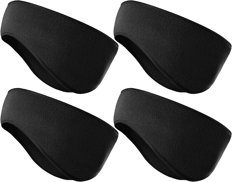 KXCOFTXI Mens Headbands - 4 Pieces Earmuffs Warmer for Winter - Sports Headband for Running Skiing Yoga Workout