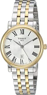 Tissot Analogue Classic Silver Strap Women's Wrist Watches - T122.210.22.033.00, T1222102203300