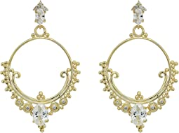 SHASHI - Scarlet Hoop Earrings