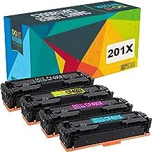 ECSC Compatible Virador Cartucho Reemplazo Por HP Colour LaserJet Pro M252dw M252n MFP M274n MFP M277dw MFP M277n CF400X//1X//2X//3X Negro//Cyan//Amarillo//Magenta, 4-Pack