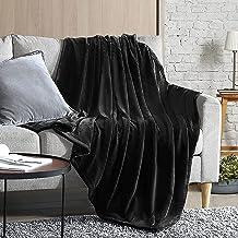 SSMT Soft Flannel Fleece Blanket, Black, King Size, 210 * 200 cm
