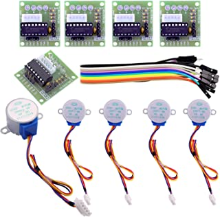 ELEGOO 5 Sets 28BYJ-48 ULN2003 5V Stepper Motor + ULN2003 Driver Board for Arduino