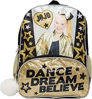 Jojo Siwa Girls' JoJo Backpack Pom, Black, One Size