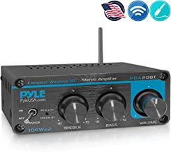Bluetooth HiFi Mini Audio Amplifier - Class D Digital Desktop PC Stereo Amplifier Receiver (2 x 100 Watt MAX)- Pyle PDA20BT