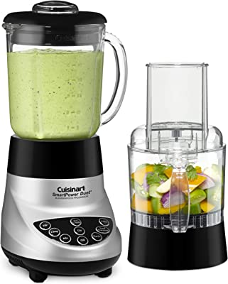 Cuisinart BFP-703BC Smart Power Duet Blender/Food Processor, Brushed Chrome, 3 cup, count of 6