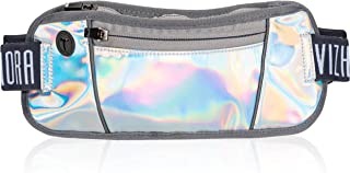 Holographic Fanny Pack for Women - Small Slim Fashion Waist Bag for Running, Rave, Festival, Hiking