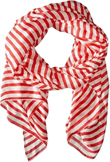 Womens Winter Painterly Strip Oblong Scarf