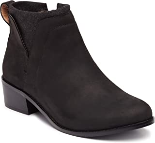 Vionic Women's Hope Joslyn Ankle Boots - Ladies Waterproof Leather Upper Boots with Concealed Orthotic Arch Support