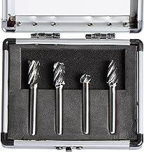 SpeTool Carbide Rotary Burr For Aluminum Cutting (Non-Ferrous) 1/4 inch shank 4Pcs/Pack