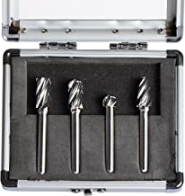 SpeTool Carbide Rotary Burr For Aluminum Cutting (Non-Ferrous) 1/4 inch shank 4Pcs/Pack