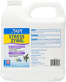 API STRESS ZYME Freshwater and Saltwater Aquarium Cleaning Solution 64-Ounce Bottle