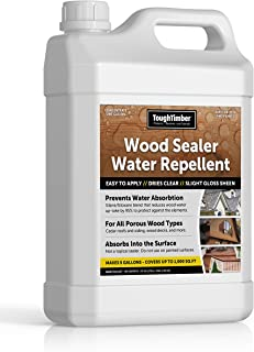 ToughTimber - Waterproof Deck Sealer, Wood Sealer, Cedar Roof Sealer - Great for Porous Wood As Waterproof Sealer and Water Repellent