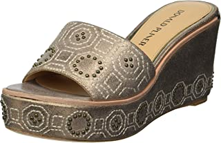 Donald J Pliner womens Wedge Sandal, Bronze, 9 US
