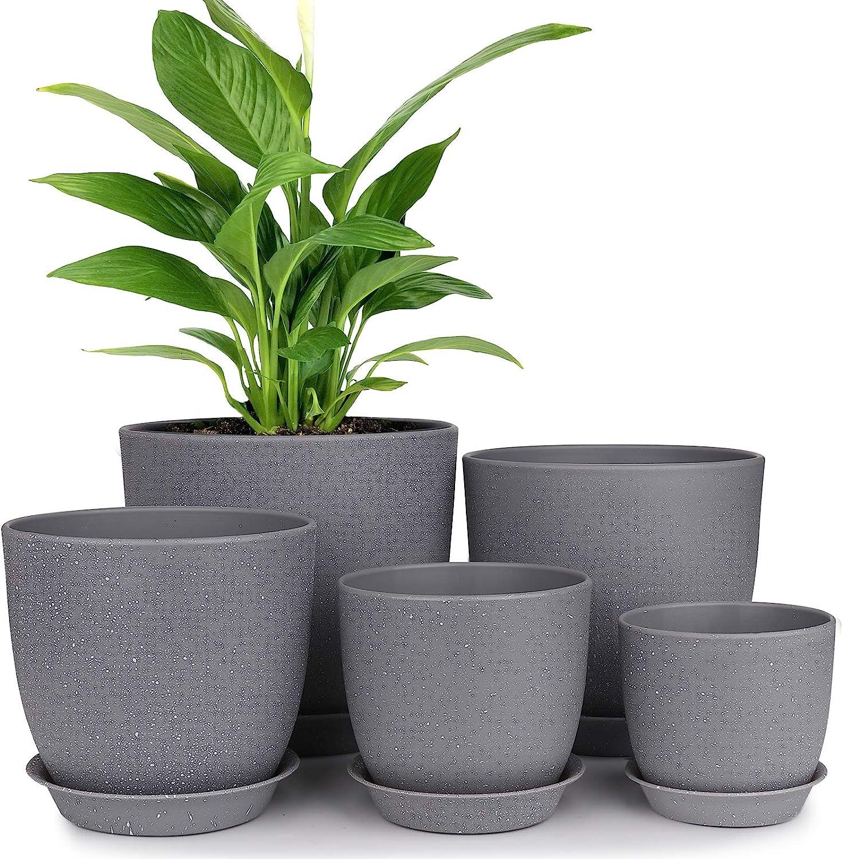 Max 41% OFF Plastic Planter HOMENOTE 7 6 5.5 Flower Inch 4.5 4.8 Indoor favorite Pot