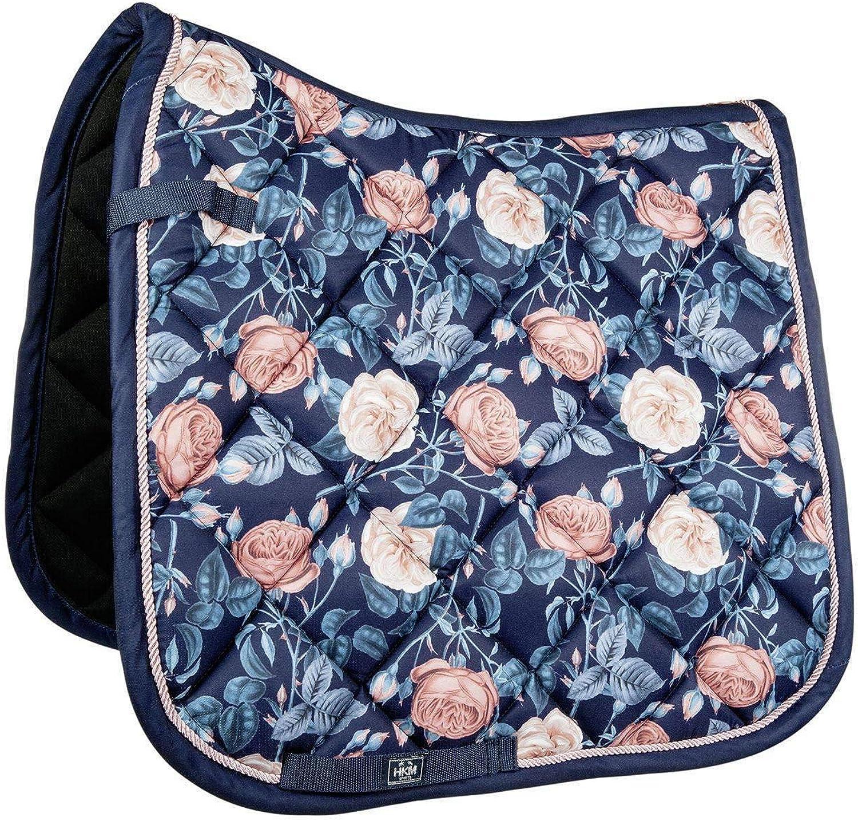 Hkm Hkm 4057052233470 Saddle Cloth Flowerpower6947 Dark bluee Apricot Ponyviels.