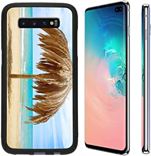 MSD Phone Case Designed for Galaxy S10 Plus TPU Backplate with Silicone Rubber Bumper Snap Case Image ID: 20793592 Vacation Concept Palapa Sun Roof Beach Umbrella