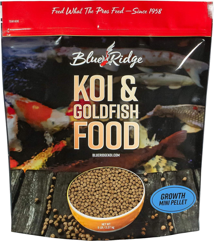 Blue Finally popular brand Ridge Fish Food Pellets Koi and Formula M Miami Mall Growth Goldfish