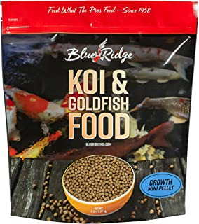Blue Ridge Fish Food Pellets, Koi and Goldfish Growth Formula, Mini 1/8