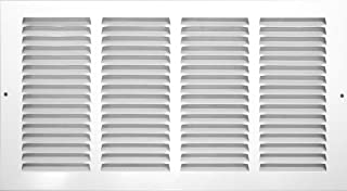 Accord ABRGWH248 Return Grille with 1/2-Inch Fin Louvered, 24-Inch x 8-Inch(Duct Opening Measurements), White