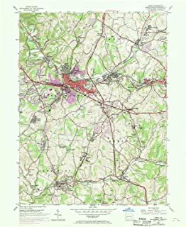 YellowMaps Irwin PA topo map, 1:24000 Scale, 7.5 X 7.5 Minute, Historical, 1953, Updated 1970, 26.9 x 22 in