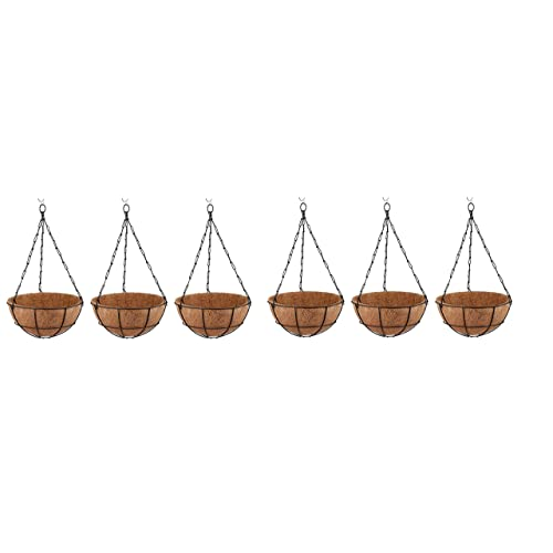 Minerva Naturals Coir Hanging With Coir Pot, Green Color ( Set Of 6 )