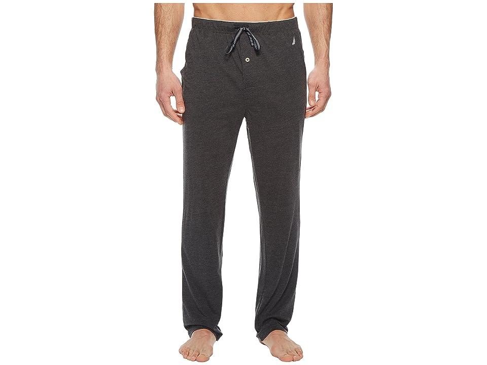 Nautica Knit Sleep Pants (Charcoal Heather) Men