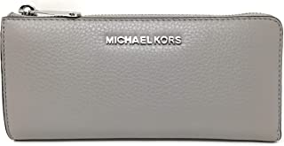 fd61edf416a1 Michael Kors Jet Set Large Three Quarter Zip Around Pebbled Leather Wallet
