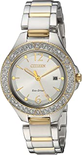 Citizen Women's 'Eco-Drive' Quartz Stainless Steel Casual Watch, Color:Two Tone (Model: FE1164-53A)
