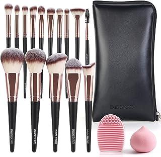 BABI BEAR Makeup Brushes, 15 PCs Makeup Brush Set Professional Premium Synthetic Make Up Brush for Foundation Blending Powder Blush Concealers Eye shadow with Travel Makeup Bag