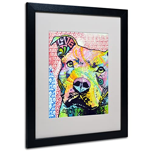 Thoughtful II Matted Artwork by Dean Russo with Black Frame, 16 by 20-Inch