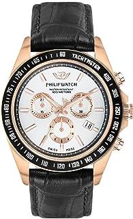 PHILIP WATCH Orologio Cronografo Quarzo Uomo con Cinturino in Pelle R8271607002