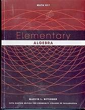 Elementary Algebra Math 017