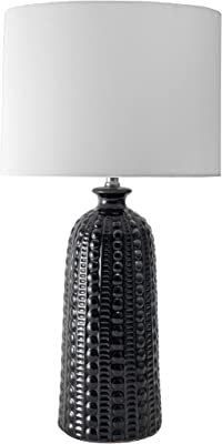 "nuLOOM Home NPT32CA Flint 30"" Ceramic Table Lamp, Black"