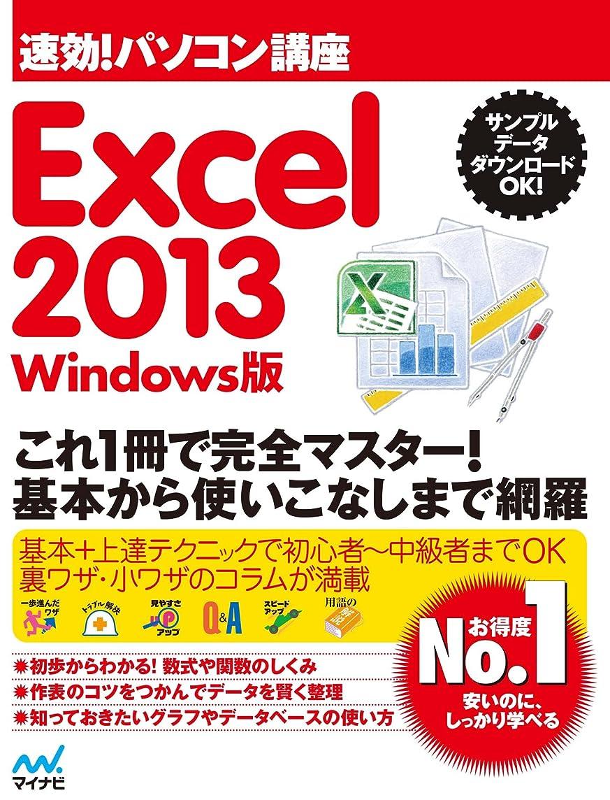 不快頑張るサイレント速効!パソコン講座 Excel 2013 Windows版 .