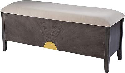 SEI Furniture Hatherleigh Storage Bench, Light Brown, Gray