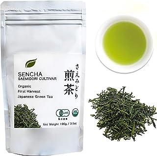 Organic Japanese Sencha - First Harvest Saemidori Cultivar 100g (3.5oz) bag - Radiation Free - Loose Leaf Green Tea