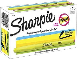 Sharpie Accent Pocket-Style Highlighters, Fluorescent Yellow , Chisel Tip, Dozen - 27025