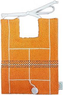 Zigozago - Bavaglino TENNIS in puro cotone - Colore: arancio - Taglia: Unica