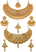Apara Combo Bridal Necklace Jewellery Set Earrings for Women