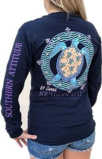 Lil Snap Turtle Navy Blue Women's Long Sleeve Shirt