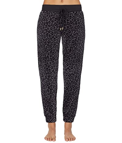 Donna Karan Casual Luxe Sleepwear Pants (Charcoal Animal) Women