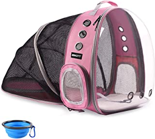 BEIKOTT Cat Backpack Carriers, Foldable Pet Bubble Backpack Carriers for Cats Puppy Dogs and Birds, Airline-Approved, Vent...