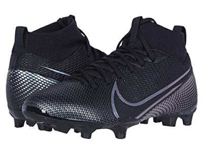 Nike Kids Jr Superfly 7 Academy FG/MG Soccer (Little Kid/Big Kid) (Black/Black) Kids Shoes