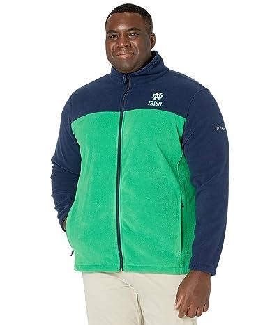Columbia College Big Tall Notre Dame Fighting Irish CLG Flanker III Fleece Jacket (Collegiate Navy/Fuse Green) Men
