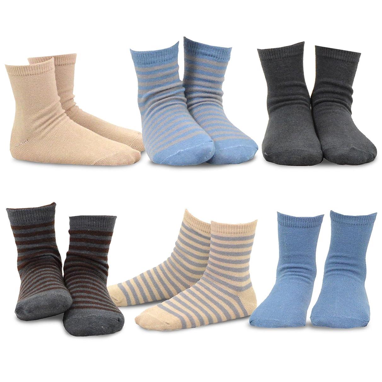 TeeHee (Naartjie) Kids Boys Basic Cotton Crew Socks 6 Pair Pack