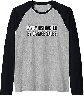 Easily Distracted by Garage Sales - Garage Sale Raglan Baseball Tee