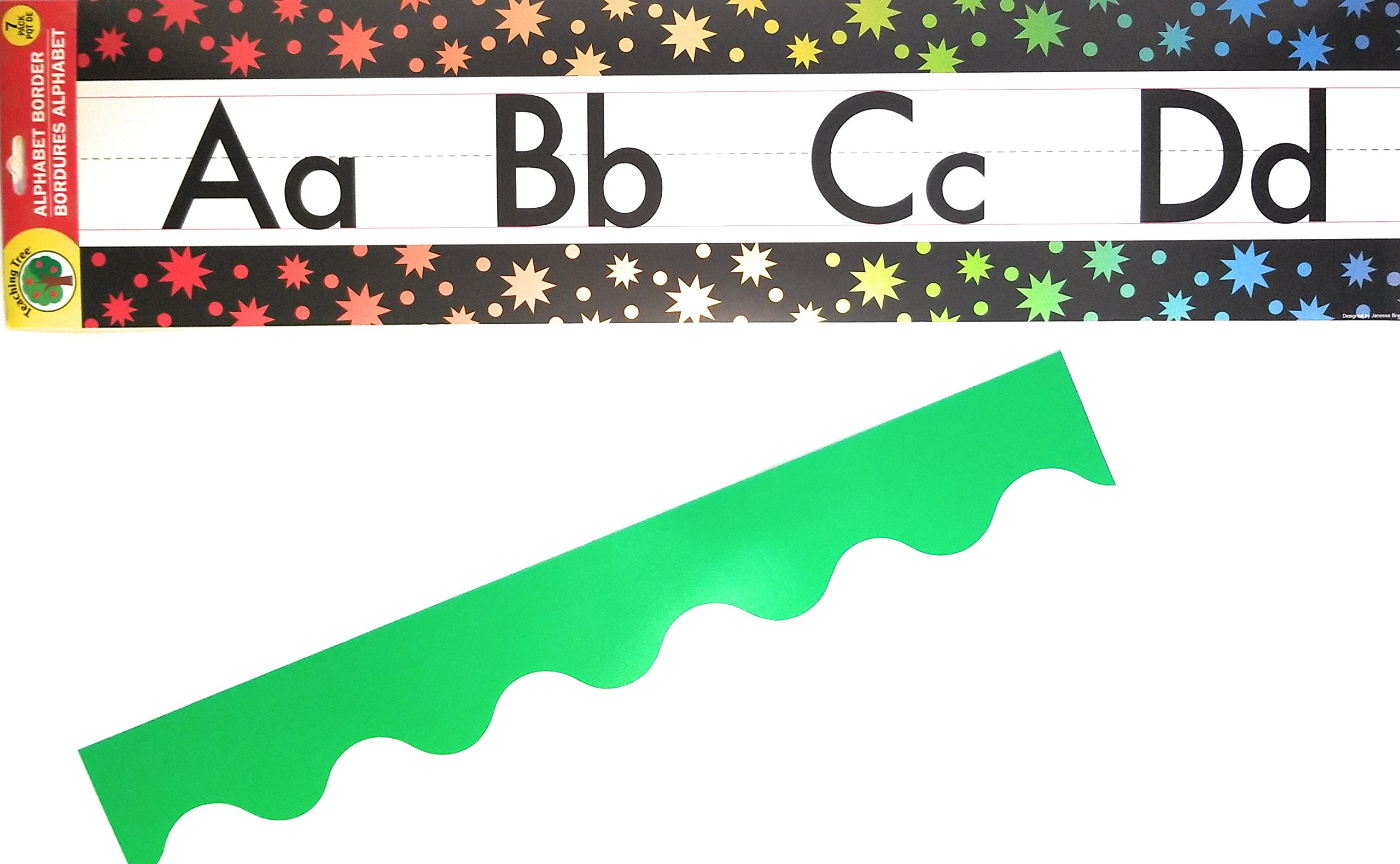 Amazon Com Alphabet Bulletin Board Border Set Multi Color Classroom Decorations Preschool Kindergarten Elementary Creative Strips School Supplies Bulletin Trim Wall Border Wall Decal Classroom Decor Home Improvement