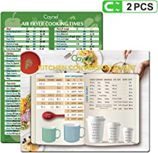 Air Fryer Accessories Cheat Sheet Magnets Set,Magnet Cooking Times Chart Quick Reference Guide   Fridge Sticker and Decal Alternative   Best Gift Idea 2 pcs