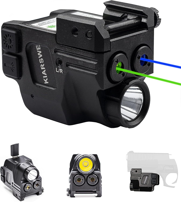 KIARSWE Blue Green Laser Light Combo, 500 Lumens Tactical Flashlights